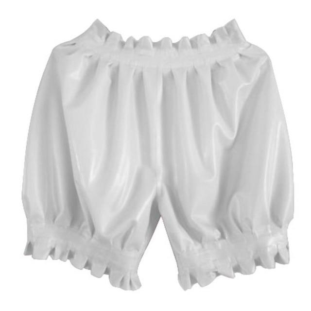 Latex Boxer Shorts Sissy Panty Shop White S