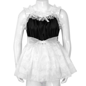 Ruffled Lace Tulle Sissy Dress Sissy Panty Shop Black M
