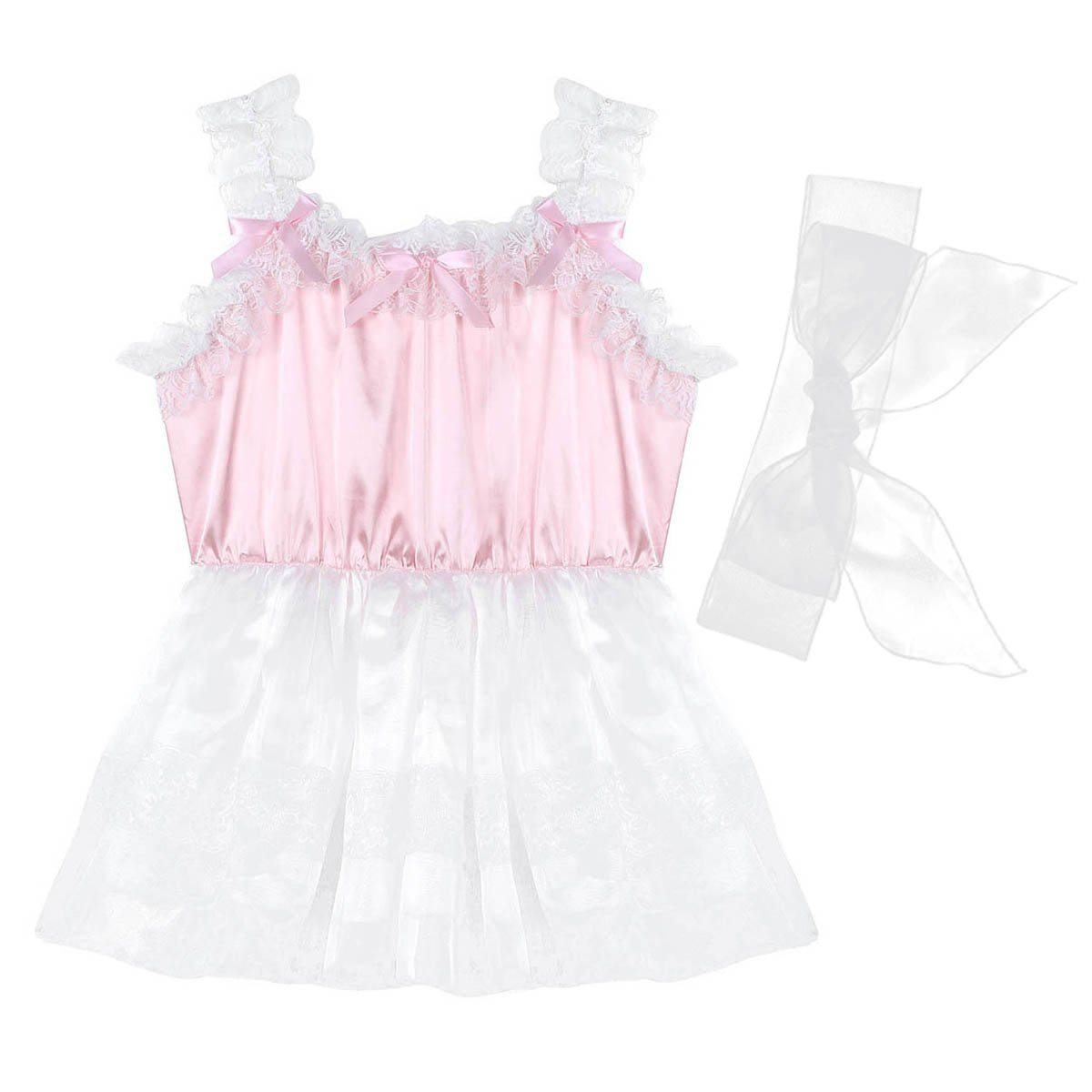 Ruffled Lace Tulle Sissy Dress Sissy Panty Shop