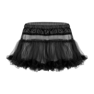 Frilly Ruffled Tulle Sissy Skirt Sissy Panty Shop Black One Size