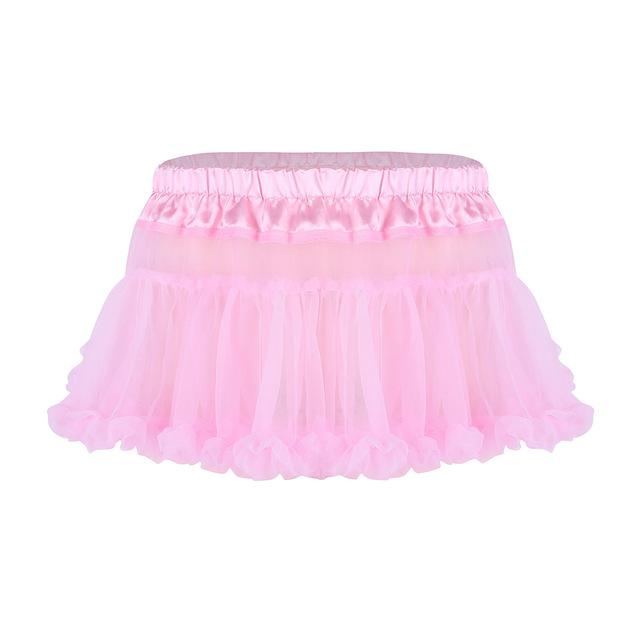 Frilly Ruffled Tulle Sissy Skirt Sissy Panty Shop Pink One Size