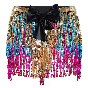 """Sissy Amy"" Sequin Tassel Skirt Sissy Panty Shop Mixed Color One Size"