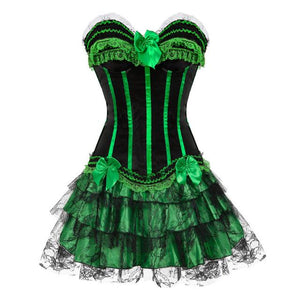 """Sissy Alice"" Corset Dress Sissy Panty Shop all green 4XL"