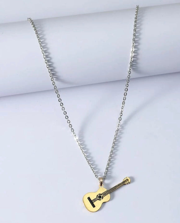 Guitar Charm Necklace