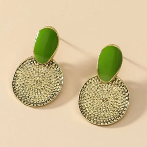 Green Vintage Look Earrings