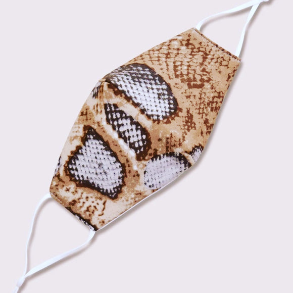 Snakeskin Patterned Masks