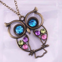 Load image into Gallery viewer, Owl pendant necklace