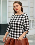 Checker Print Sweatshirt
