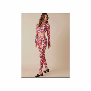 Floral Patterned Top and Pants Set