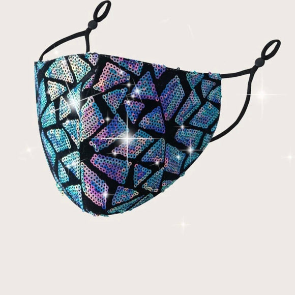 Geometric Print Face Mask