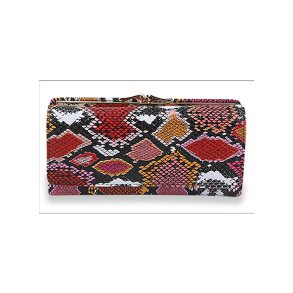 Snakeskin Print Vegan Leather Wallet