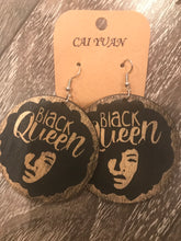 Load image into Gallery viewer, Black Queen Earrings