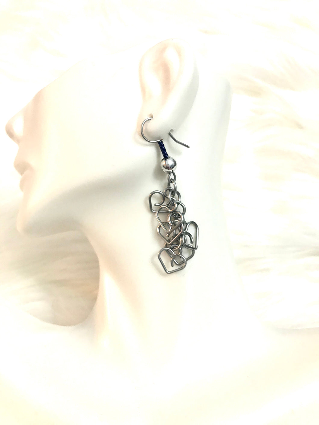 Heart Shaped Dangle Earrings