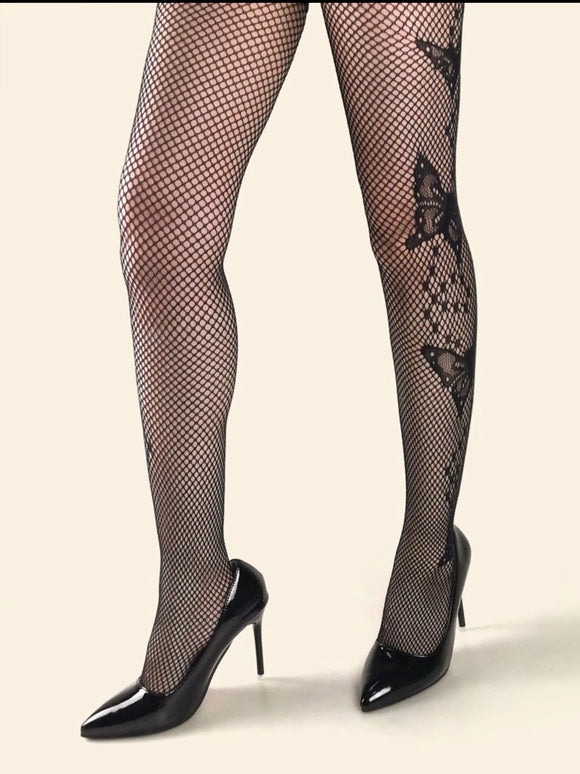 Butterfly Fishnet Tights