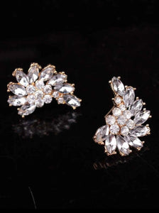 Rhinestone Bling Angel Wing Earrings