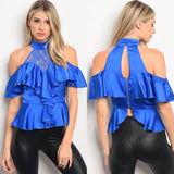 3 Pack Stain Cold Shoulder Top
