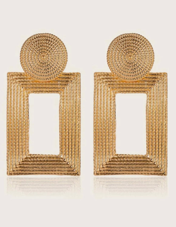 Large statement earrings