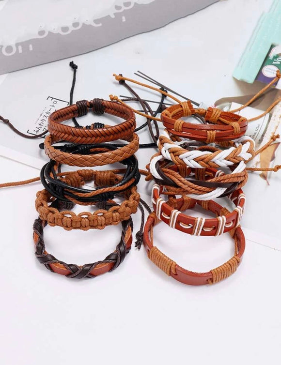 Men's 10 Piece Bracelet Set