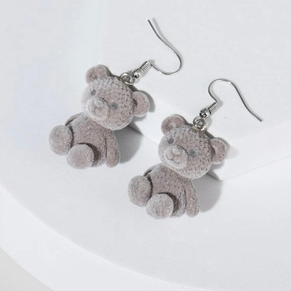 Teddy Bear Statement Earrings