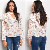 Long Sleeve Floral Print