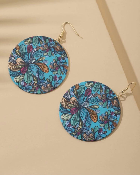 Paisley Print Earrings