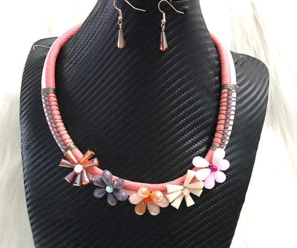 Floral Rope Necklace