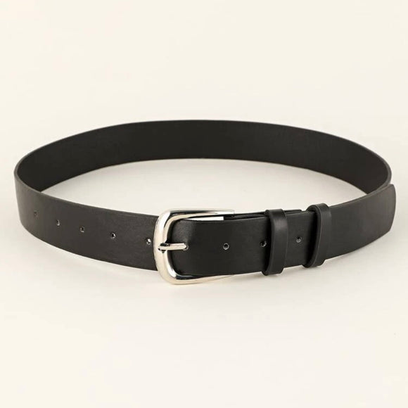 Black Vegan Leather Belt