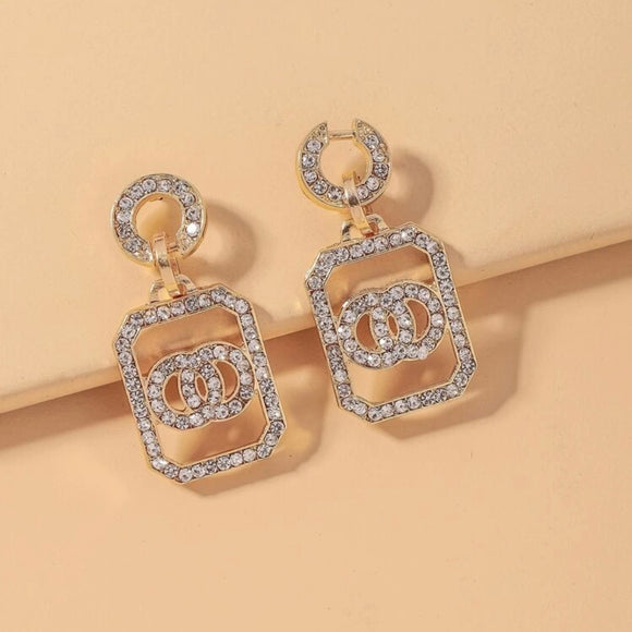 Rhinestone Bling statement Earrings