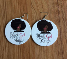 Load image into Gallery viewer, Black Girl Magic Earrings