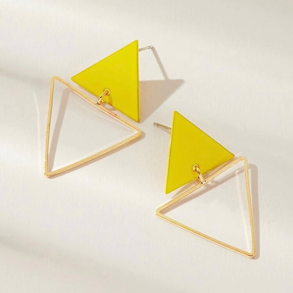 Geometric shaped earrings