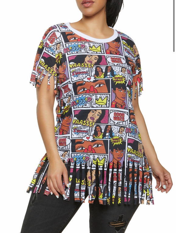 Graphic Comic Book Tee