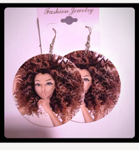 Load image into Gallery viewer, African Lady Earrings