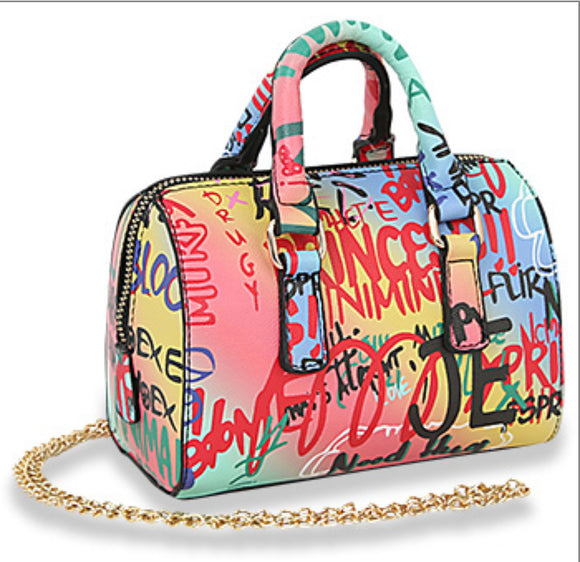 Graffiti Patterned Handbag