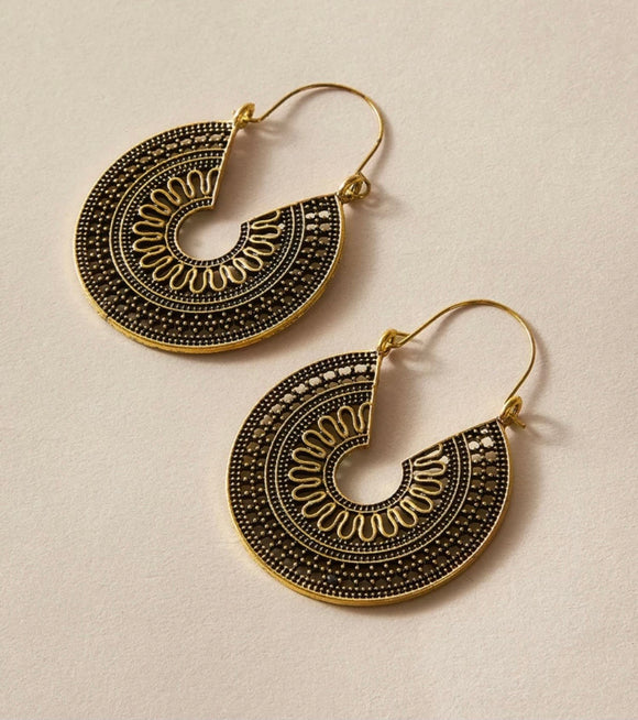 Bronze Plate Earrings
