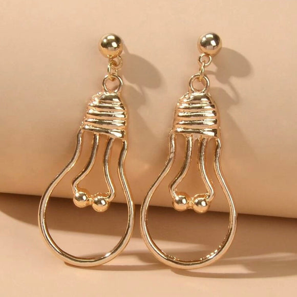 Abstract Lightbulb Earrings