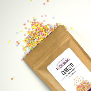 All Natural Rainbow Sugar Confetti in a bag