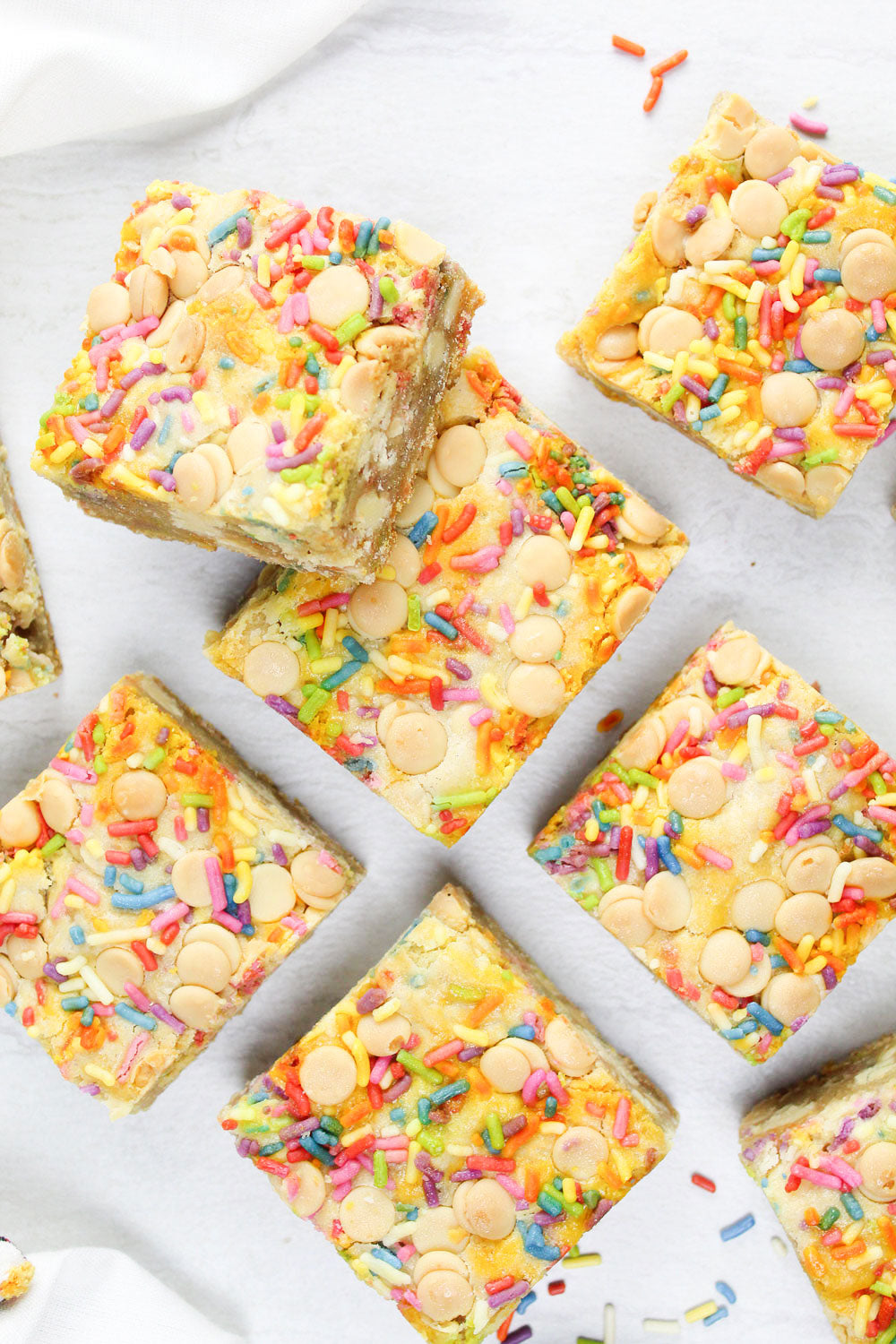 White Chocolate Blondies and Sprinkles   ifiPROVISIONS   Recipes