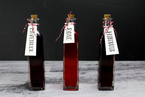 Floral flavored simple syrups