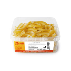 Lemon Peel Scorzoni Sicilia in plastic box packaging