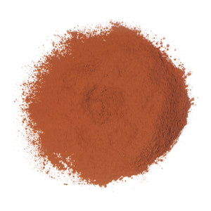 Extra Red Cocoa Powder in pile out of packaging
