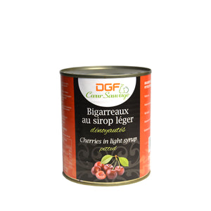 Pitted Biggareaux Cherries in can packaging 2 lb can