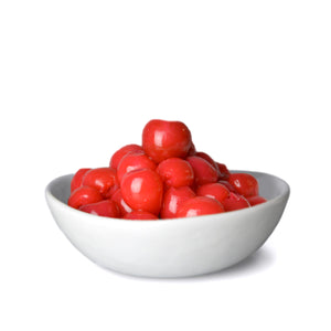 Pitted Bigarreaux Cherries in bowl out of packaging