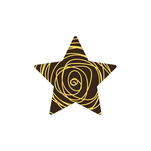 Scribble Star-Gold Chocolate Decor detail