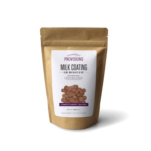 Milk Chocolate confectionery coating in bag packaging