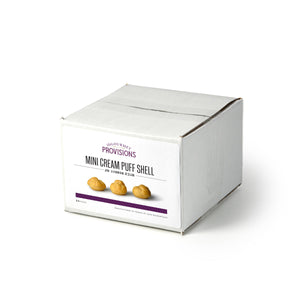 Mini cream puff shells in box packaging 25 pcs