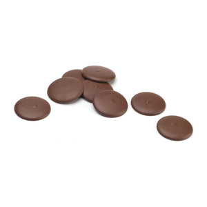 Misterio 58% dark chocolate couverture discs out of packaging