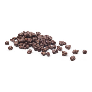 Chocolate Covered Cocoa Nibs out of packaging