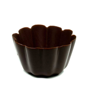 Dark Marquerite chocolate cup out of packaging
