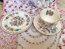 Load image into Gallery viewer, Aynsley, Pembroke pattern, brightly coloured birds, Tea Cup Trio.