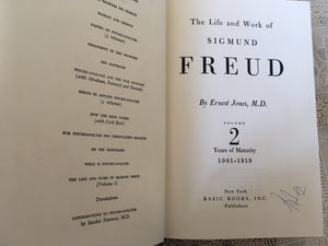 Rare Book, 1901-1919, Freud, Sigmund, The Life and Work, Vol 2. Years of Maturity
